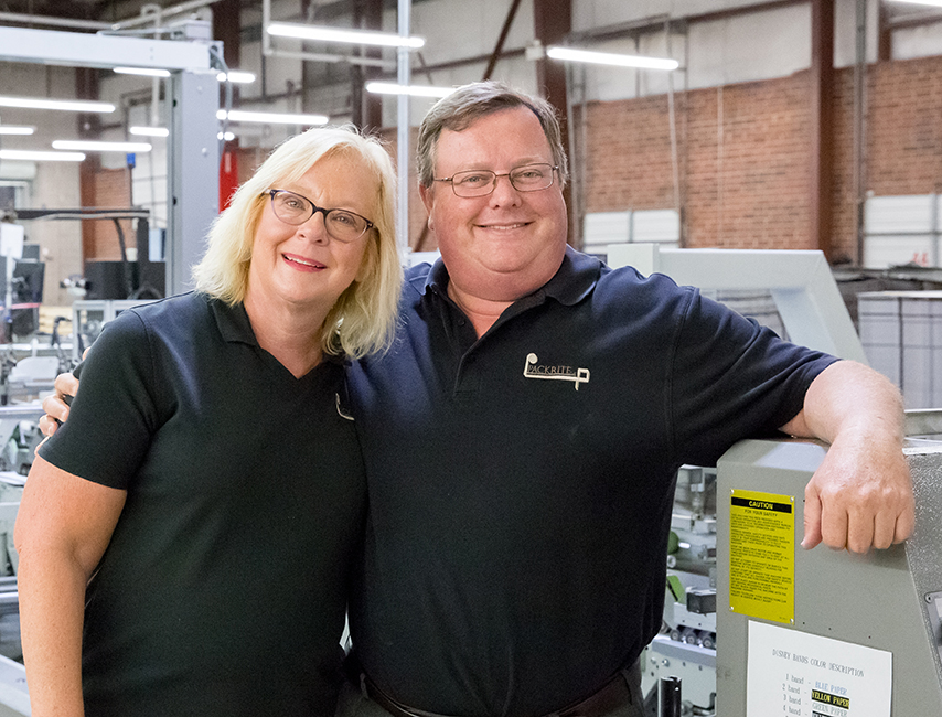 Packrite's Mary and Michael Drummond