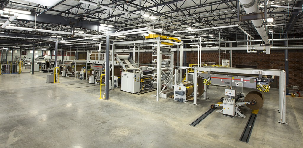 Packrite's new Bobst 87-inch 324 Asitrade Singlefacer Laminator, the first of its kind in the world