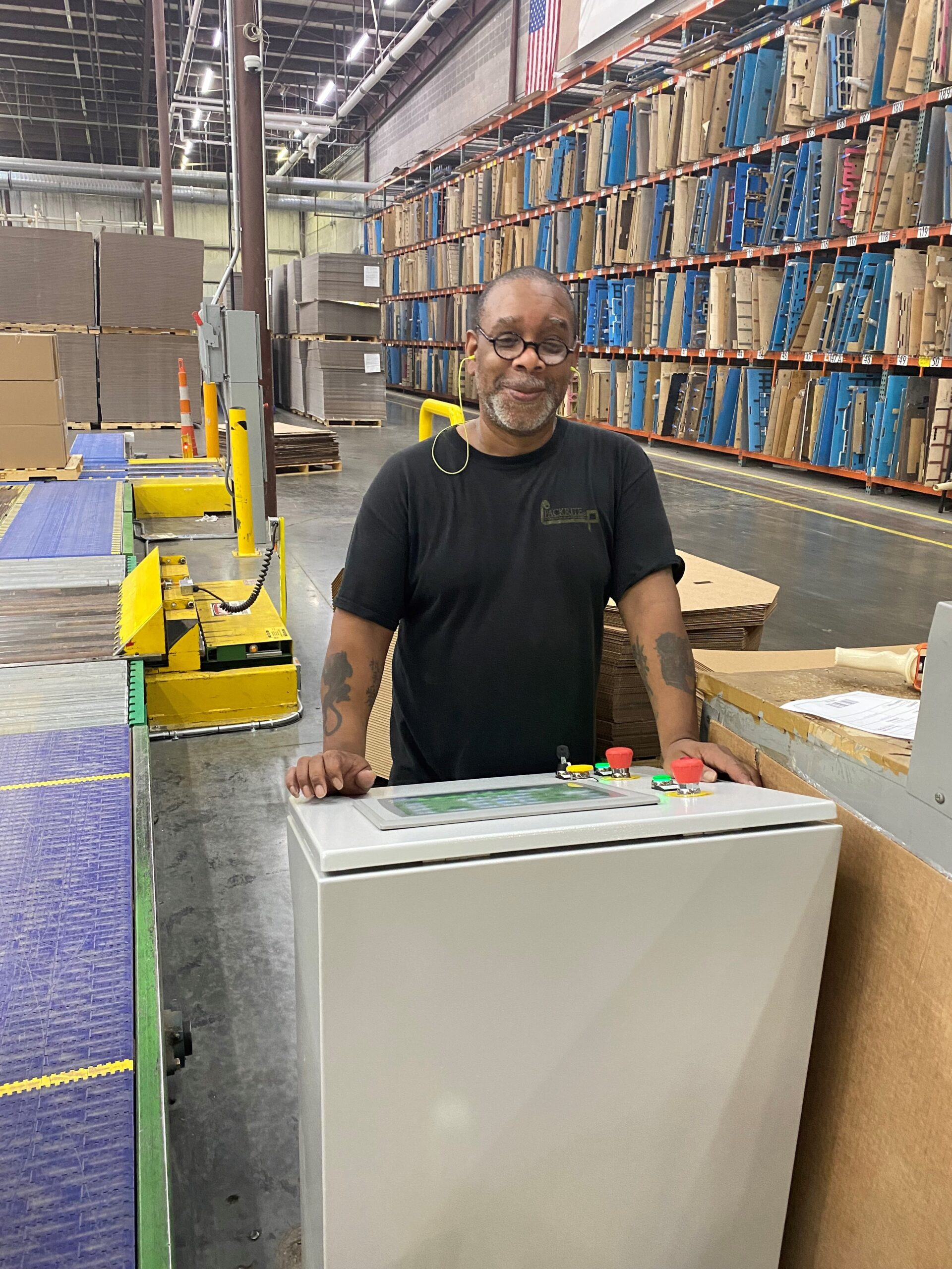 Packrite's new material handling line can be operated from a single interface